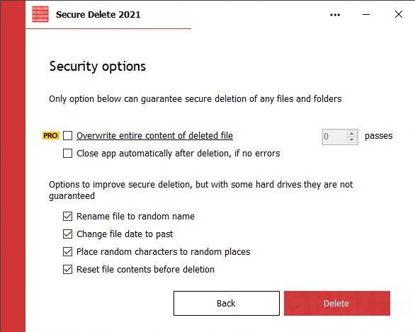 Secure Delete 2021