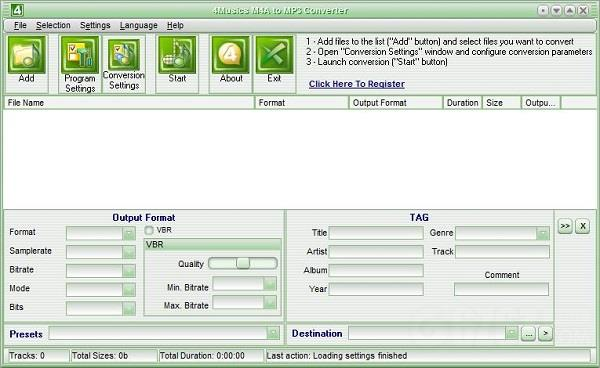 4Musics M4A to MP3 Converter